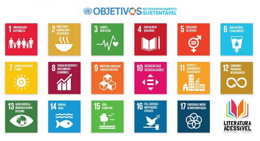 O Literatura Acessível está alinhado aos Objetivos de Desenvolvimento Sustentável