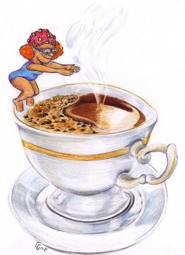 Afogando-se no café